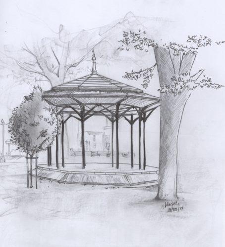 Kiosque jardin de ville V.Lathuile